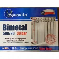 Биметаллический радиатор Aquavita 500/80 (Original)