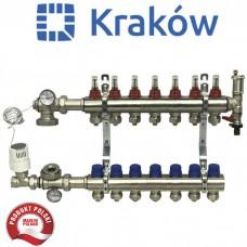 Коллектор для теплого пола Krakow на 2 выхода (Польша)