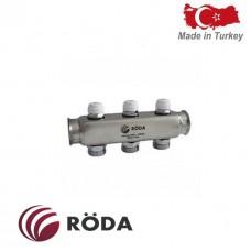 Коллектор распределительный Roda с зап. Клапаном 12 выходов