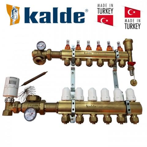 Коллектор Kalde на 3 выхода для теплого пола