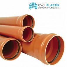 Труба с раструбом Evci Plastik 110х2.2x1000 для наружной канализации