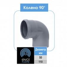 Колено Evci Plastik 110x90 для внутренней канализации