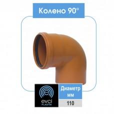 Колено Evci Plastik 110x90 для наружной канализации
