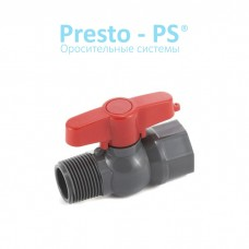 Кран шаровый Presto-PS с наружной и внутренней резьбой 1/2 дюйма
