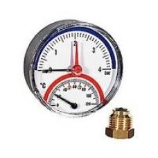 Термоманометр Giacomini. 20° ÷ 120°C. 0 ÷ 6 bar.