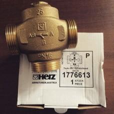 Термостатичний клапан HERZ-TEPLOMIX (DN 25) 55*C трехходовой  с отключаемым байпасом