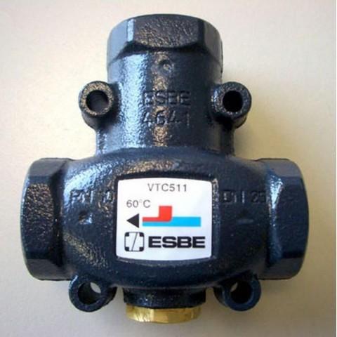 """Термостатический смесительный клапан ESBE VTC511 Rp 1 1/4""""  55*C Kv-14"""