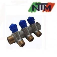 Коллектор вентильный NTM на 3 выхода