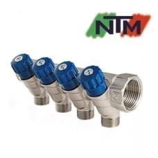 Коллектор вентильный NTM на 4 выхода