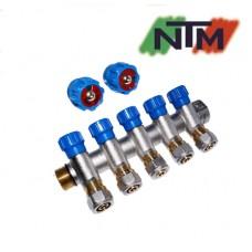Коллектор вентильный NTM на 5 выходов