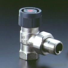 """Угловой термостатический вентиль с преднастройкой для железной трубы (3\4"""" - 30х1,5)"""