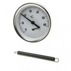 Термоманометр накладной Ø63мм 120ºC
