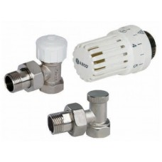 SD Комплект кранов с термоголовкой радиаторный прямой 1/2''