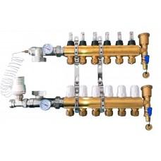 Коллектор APC на 7 выходов с двумя конечными элементами