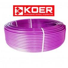 Труба для теплого пола Koer 16x2.0 PEX-B (pink) с кислородным барьером